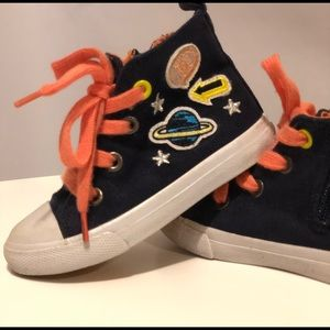 Cat & Jack Toddler Girl High Top Canvas Sneakers